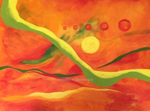 Dreams, Planetary, Imagination, Annette M Stevenson, painting, fine art,