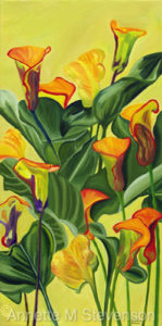 Yellow Lilies by Annette M Stevenson, Home Decor, prints, beautiful flowers,
