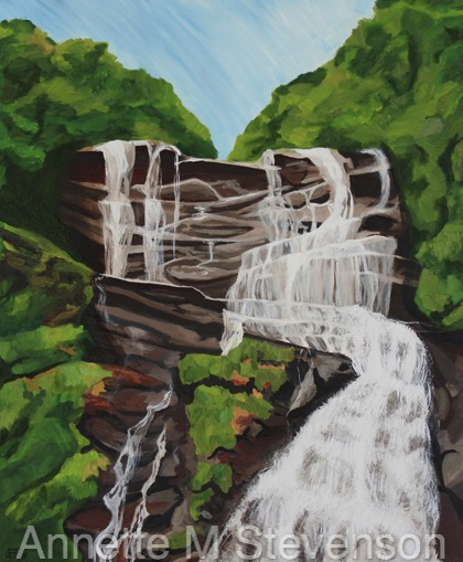 Enjoy the power of waterfalls and nature in this painting of Amicalola Falls, Georgia. I wanted to show the massive structure of the rocks, the overgrowth of greenery, and the rushing water of the falls in Georgia. I hope you enjoy the beauty and feel the joy of the outdoors in this painting.